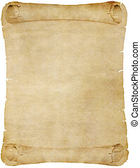 gamle, avis, eller, pergament, scroll