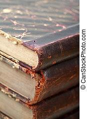 gamle bøger, closeup