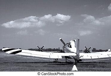 gamle, flyvemaskine