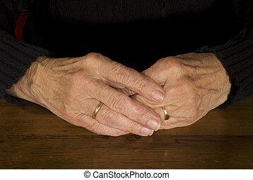 gamle, hænder