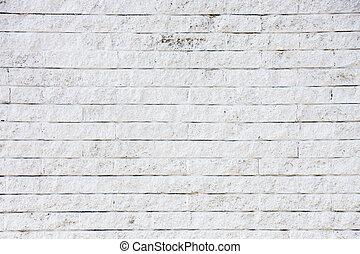 gamle, hvide mursten, mur