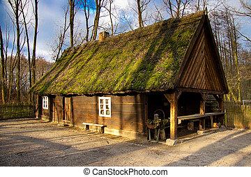 gamle, hytte