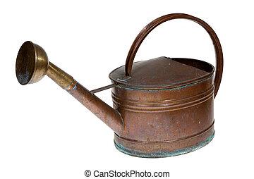 gamle, kobber, vanding kunne