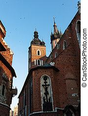 gamle, krakow, arkitektur