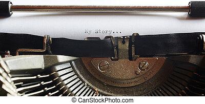 gamle, skrivemaskine