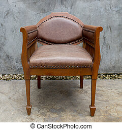 gamle, stol, ind, grunge, rum