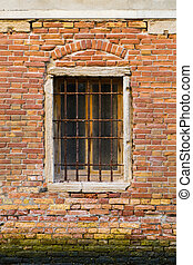 gamle, vinduer, ind, venedig, hos, barer