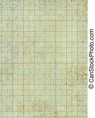 gamle, vinhøst, plettet, affarv, tilsmuds, graph, paper.
