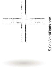 Gamma cross pencil sketch