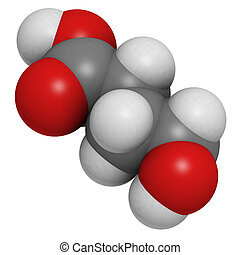 gamma-hydroxybutyric acid (GHB, liquid XTC) drug, molecular model. Atoms are represented as spheres with conventional color coding: hydrogen (white), carbon (grey), oxygen (red)