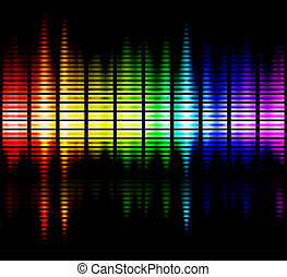 Gamma rays - Spectrum of viewable colours frequencies