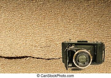 gammal, årgång kamera, bakgrund