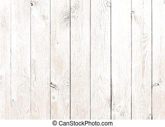 gammal, årgång, ved, bakgrund, vit, plankor