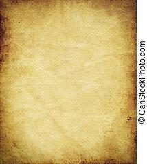 gammal, antikvitet, pergament, papper