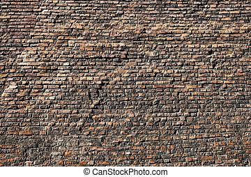 gammal, bakgrund, mycket, struktur, tegelsten vägg
