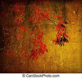 gammal, blomma