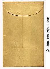 gammal, brun, kuvert