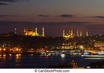 gammal by, av, istanbul, turkiet