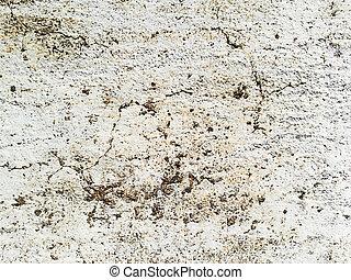 gammal, cement, vägg, grunge, bakgrund