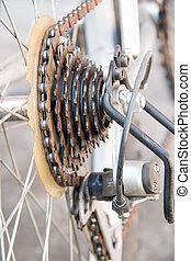 gammal cykel, årgång, stylized, foto