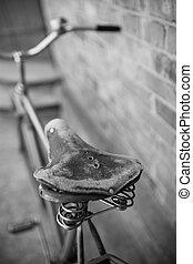 gammal, cykel,  retro
