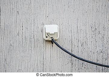 gammal, elektriskt avlopp