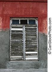 gammal, fönster