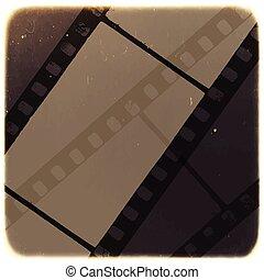 gammal, filmstrip, abstrakt, bakgrund., vektor