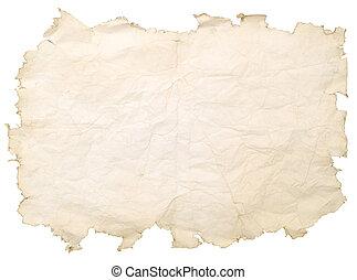 gammal, fläckat, papper