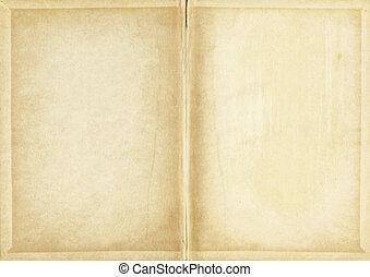 gammal, fläckat, papper, texture.