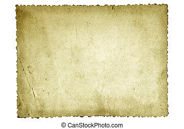 gammal, foto, papper