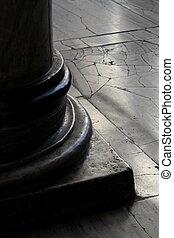 gammal, handcrafted, marmor, pelare, in, hagiasophia,...