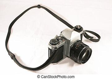 gammal, kamera, handbok