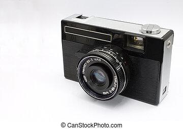gammal, kamera, sovjetmedborgare, upp slut