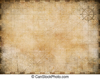 gammal, karta, utforskning, och, äventyr, bakgrund