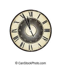 gammal, klocka
