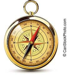 gammal, kompass
