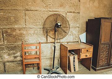 gammal, kontor, antikviteter