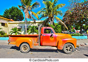 gammal, kuban, bil