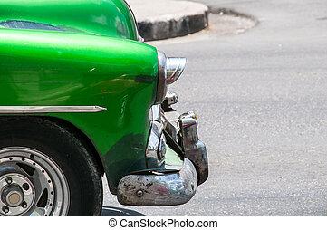gammal, kuban, bil, in, den, gata