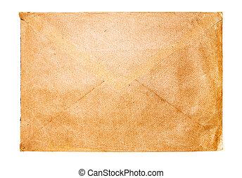 gammal, kuvert, isolerat, vita