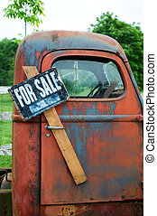 gammal lastbil, till salu