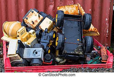 gammal lastbil, toys