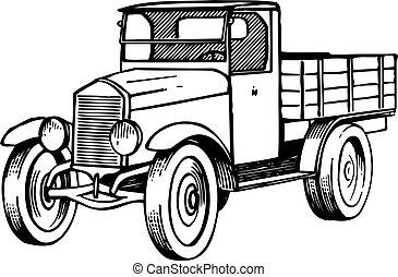 gammal, lorry
