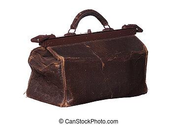 gammal, medicin väska