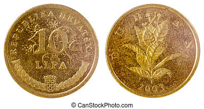 gammal, mynt, av, kroatien