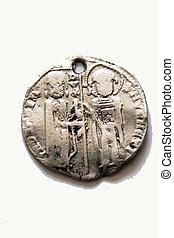 gammal, mynt, grekland, roma