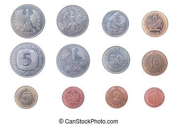 gammal, mynter, av, den, tyskland