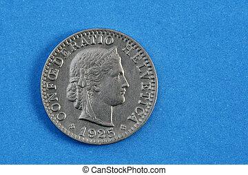 gammal, mynter, från, europa