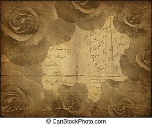 gammal, papper, struktur, ro